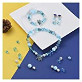DAXINYANG Colorful Linght Fairy Tale Theme Jewelry Making Kit DIY Joyería Conjunto con Acrílico/Resina Cabochons De Cristal Pearl/Polymer Clay Beads Hilo Elástico (Metal Color : Findings for Set)