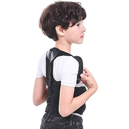 FHKBK Corrector de Postura, Corrector de Postura de Espalda para niño y niña, Soporte para Columna y Espalda con Entrenador de Postura de cinturón Ajustable Transpirable para Mejorar la