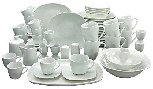 Creatable Kombiservice, Porzellan, Weiß, 51 x 39 x 34 cm, 66-Einheiten