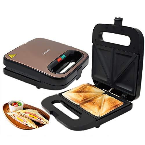 Luxe sandwich-broodrooster, roestvrij staal, ontbijtmachine, klassiek, zwart