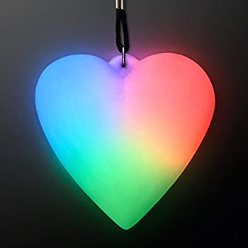 Color Changing LED Heart Light Up Necklace