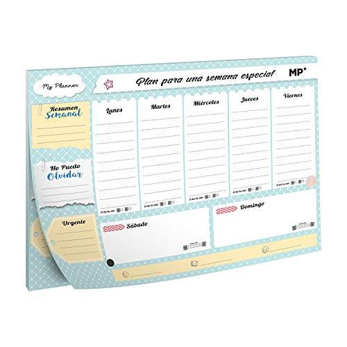 MP - Planning settimanale magnetico, calendario settimanale 2021, A4 - stampa verde