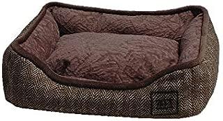 ZEEZ Mini Cuddler Pet Bed 31x25x8cm, Brown