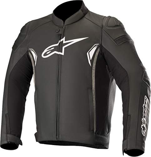 Alpinestars Motorradjacke Sp-1 V2 Leather Jacket Black Dark Gray, Schwarz/Grau, 52