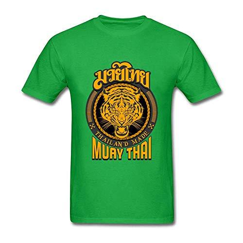 Larry Muay Thai Tiger Camiseta de Manga Corta de algodón para Unisexo, Deportiva y cómoda