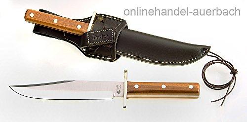 LINDER Rehwappen Platterl Bowie 2 Pflaumenholz Messer Jagdmesser