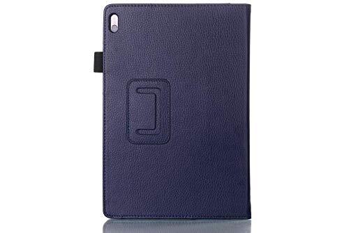 Hannuo Funda de Cuero PU para Lenovo A7600 Tab A10-80HC A10-70HV A7600F 10,1 Funda para Tableta con Soporte Fundas Funda-Azul Profundo
