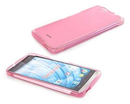 caseroxx TPU-Hülle für Wiko Getaway, Handy Hülle Tasche (TPU-Hülle in pink)