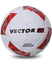 Vector X STREET-SOCCER-WHT-ORG-5 Rubber Football, Size 5 (White-Orange)
