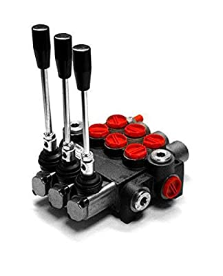 Chief P40 G Series Directional Control Valve Loader: 3 Spool, 3 Position Spring Center and 4 Position Float, 10 GPM, 3625 PSI, SAE #10 Inlet and Outlet, SAE #8 Work Ports, 220959 from Bailey Hydraulics