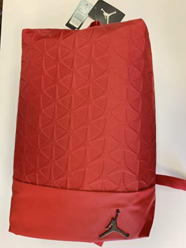 NIKE Air Jordan Jumpman All World Big Backpack Quilted Laptop Storage Bag Flight Flex, Gym Red/Black