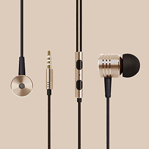 All Gadget Auriculares de metal + auriculares con micrófono remoto para gimnasio...