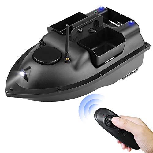 Lixada Barco de Cebo de Pesca de Control Remoto Inalámbrico con 3 Contenedores de Cebo Dispositivo de Búsqueda de Peces