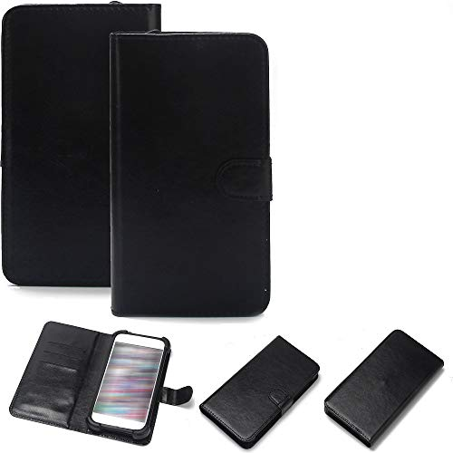 K-S-Trade Wallet Hülle Handy Hülle Kompatibel Mit Fairphone Fairphone 3 Schutz Hülle Smartphone Flip Cover Flipstyle Tasche Schutzhülle Flipcover Slim Bumper Schwarz + In Ear Headphones