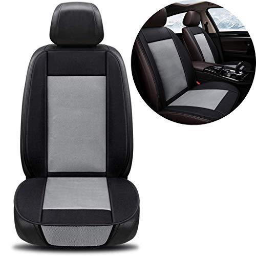 SHG CAR Auto-Sitzkissen mit Ventilator-Auto-Kühlklimaanlage Kühlkissen Sitzbelüftung Sitz gepasst die meisten Auto-LKW Van SUV,Grau,DoubleDC12V
