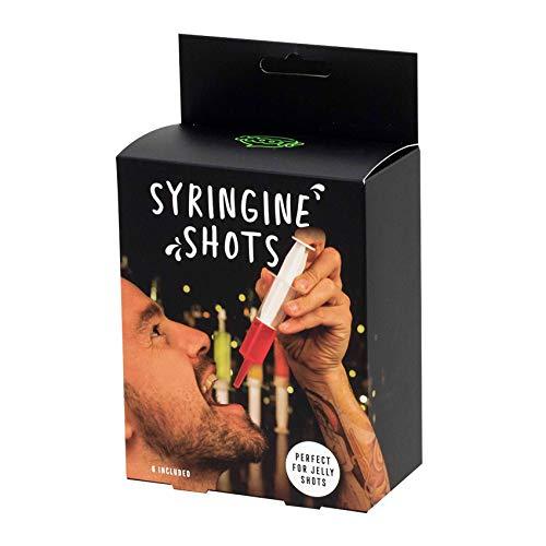 Monsterzeug Shots im Spritzen-Design, Lustige Shotgläser, 40 ml pro Shot, Schnapsspritzen, Wiederverwendbar, Schnaps Shot-Glas im 6er Set