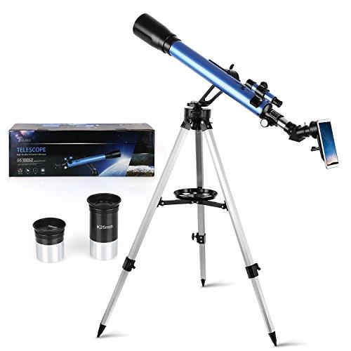 TELMU Telescopio Astronomico Rifrattore con 45 ° Diagonale e...
