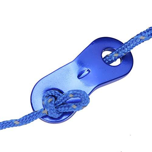 Cuerda de Viento, línea para Acampar Capacidad de Carga Reflectante de 13 pies para Acampar, Senderismo, Supervivencia en la Naturaleza, montañismo, etc.