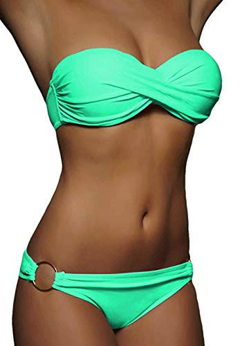 Desigual Damen Swimwear Triangle Leopard Woman White Bikinioberteil