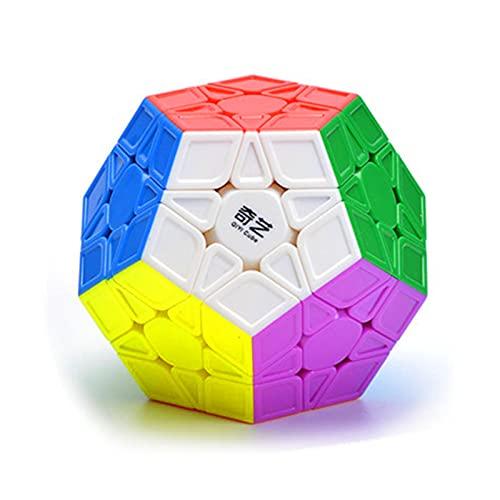 CuberSpeed Qiyi Megaminx Sculpted Stickerless Magic Cube Mofangge QiYi QiHeng S Stickerless Sculpted megaminx Speed Cube