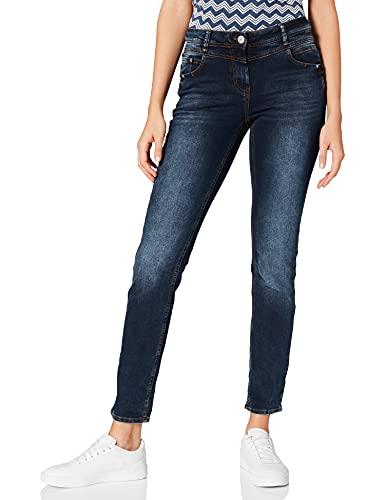 Cecil Damen 374440 Jeans, Blue Black, W31/L30