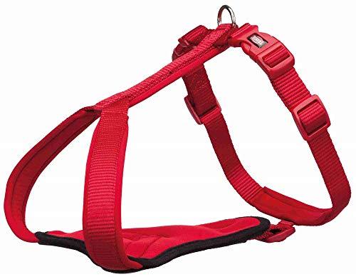 TRIXIE Pettorina per cani Premium, L: 70-85 cm/25 mm, rosso (Avvento-03)