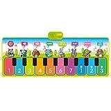 QHGao Tapetes Musicales para Niños, con 8 Sonidos De Instrumentos Musicales, 5 Modos De Juego, Almohadilla De Piano Suave, Impermeable Y Resistente A La Suciedad, Alfombra De Baile Musical