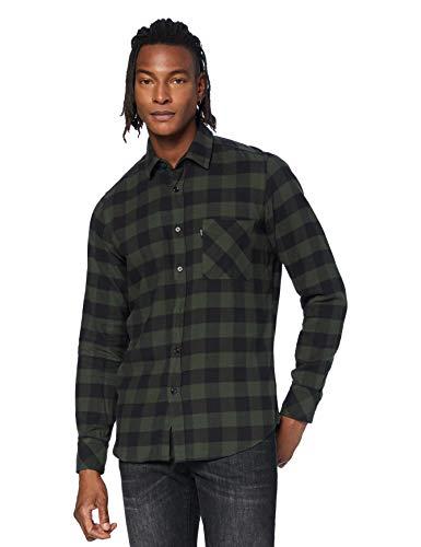 BOSS Relegant_2 Camisa, Black (1), S para Hombre