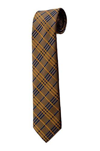 Cravate marron et bleue style prince de Galles DESIGN costume homme mariage