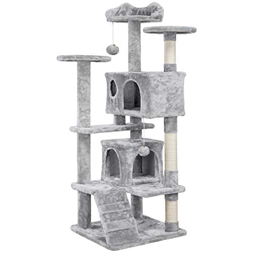 YAHEETECH 54.5' Cat Tree Tower Condo Furniture Pet Kitty Play House with Scratching Posts Perches...