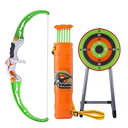 SUNI Pfeil und Bogen, Kinder Pfeil und Bogen Set Indoor Shooting Sport Bogenschießen Spielzeug für Anfänger, Kinder Bogenschießen Schießspiele, Jungen und Mädchen