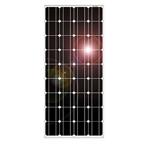 DOKIO 100W Solarpanel TÜV-Zulassung Monokristallin(Hohe Leistung) - Solarmodul 100 Watt FüR 12v Kfz Batterie,AGM, Gelbatterie ideal für Wohnmobil, Camping, Gartenhaus