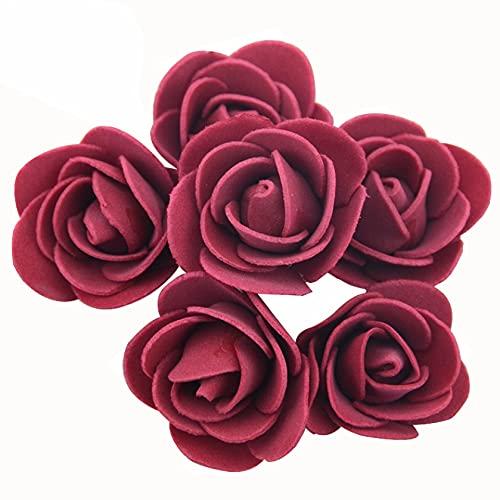 100pcs 3.0cm Artificial Foam Rose Heads Flower for Wreath Home Wedding Party Decoration DIY Handmade Accessories Silk Flower Arrangements