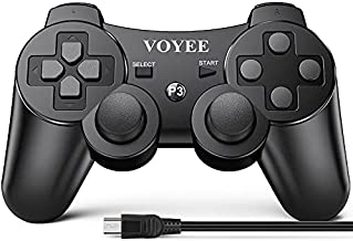 VOYEE Wireless Controller Compatible with Play-Station 3 PS-3 (Black)