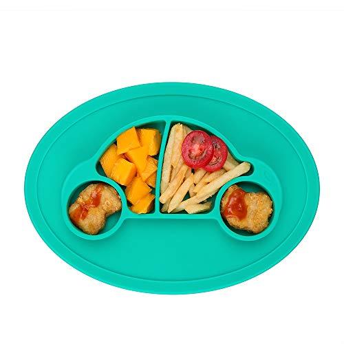 Baby Teller Mini Silikon Tischset Rutschfest für Baby Kleinkind und Kinder Babyteller mit Saugnapf Kinder Tischset Abwaschbar Baby Tischset für die Meisten Esstische und Hochstuhl-Tabletts