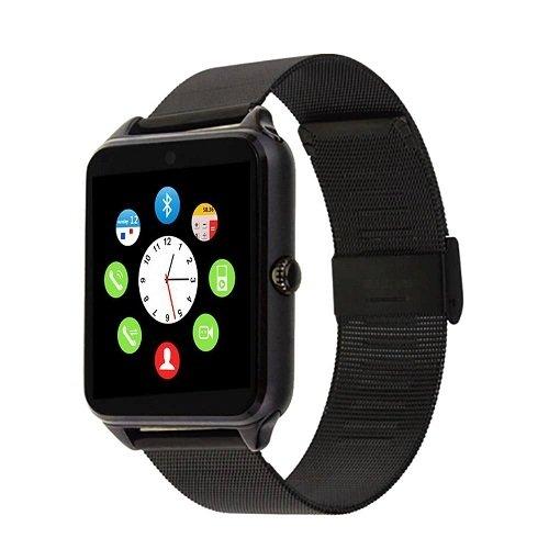 Smartwatch Z60Slot Karte Sim und SD Card Bluetooth Kamera Uhr Telefon Schwarz