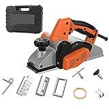 AXH Cepilladora Carpintería, Cepilladora Manual 1000 W, Cepilladora Eléctrica con Cable De 13000 RPM, Profundidad Ajustable, Muebles de Bricolaje Carpintería