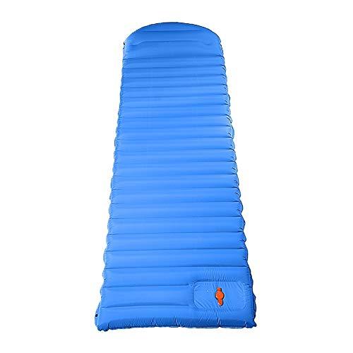 Esterilla Camping,Esterilla Hinchable Camping Pad Pad Mat Colchón inflable al aire libre para la tienda Ultralight Cojín almohada a prueba de humedad Senderismo Trekking ultraligera ( Color : Blue )