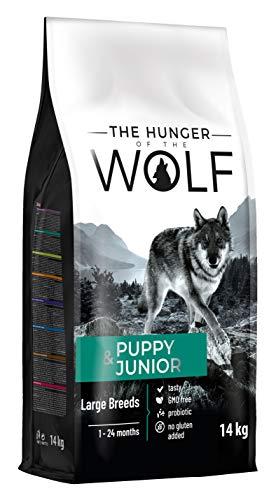 The Hunger of The Wolf Hundetrockenfutter für Welpen und junge Hunde, große und sehr große Rassen, Lamm und Reis, 14 kg