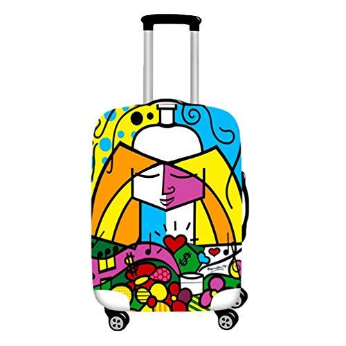 YiiJee Elastische Kofferschutzhülle Kofferhülle Luggage Cover Gepäck Cover Reisekoffer Hülle Als Bild3 M