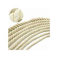 4ミリメートル20ミリメートルベージュ綿ロープ厚い綿コードおよびのための家を飾るDIY手作りアクセサリーのロープを強化し、10メートル、10メートル9ミリメートル