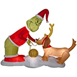 Gemmy Inflatable Dr. Seuss The Grinch with Max 6.5 Foot Wide Christmas Inflatable Outdoor Decoration, G08-11573