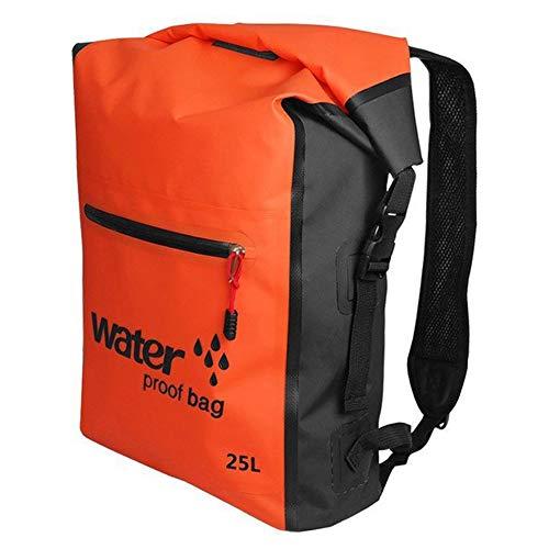 Bolsa seca impermeable mochila de natación 25L mochila para rafting al aire libre kayak boating drifting naranja impermeable Accesorios