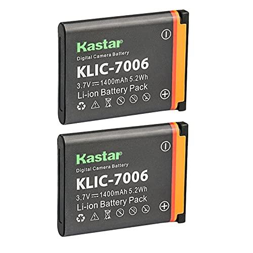 Kastar Battery 2-Pack for Kodak KLIC-7006, Kodak...