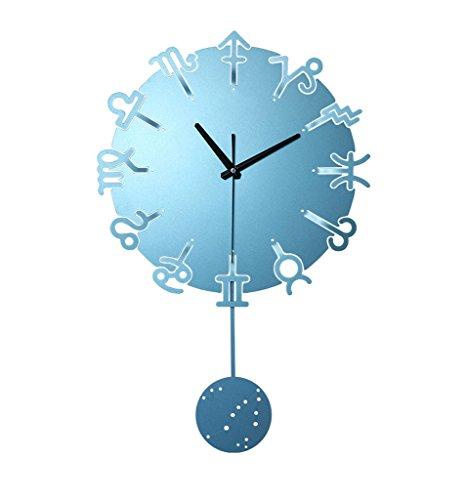 Reloj creativo de moda, reloj de pared de estilo mediterráneo, reloj de...