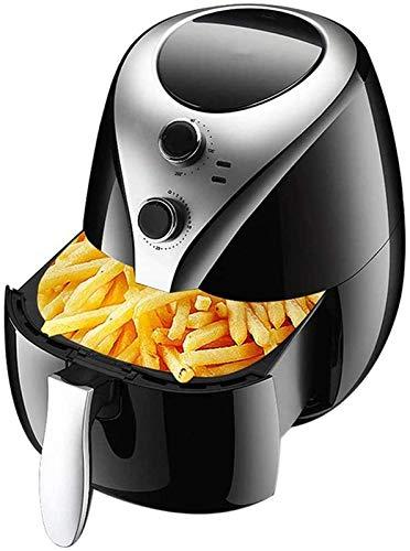 Freidora de aire - Cocina saludable sin aceite - Diales de tiempo y temperatura ajustables - Bandeja de la frescura con lavavajillas extraíble, sabrosas comidas nutritivas familiares WTZ012