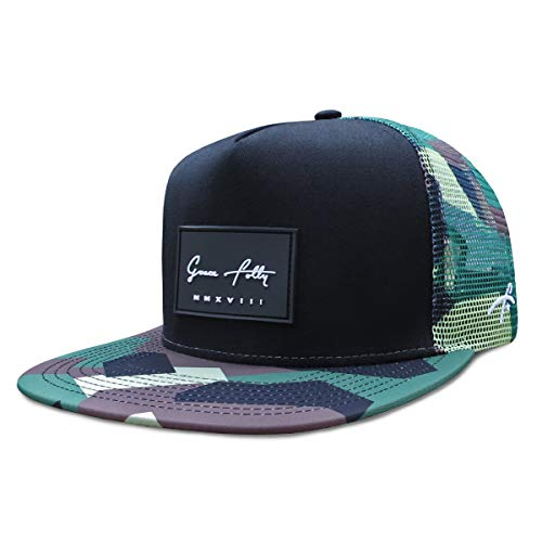 Grace Folly Trucker Hat for Men & Women. Snapback Mesh Caps (One Size, Modern Camo)