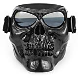 Motorcycle Goggles Skull Mask UV Proof Windproof Anti-fog Protective Detachable...