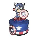 Tarta Falsa Cumpleaños, Capitan America Marvel. Tarta Artificial Infantil Decoración de Niño. Carton...