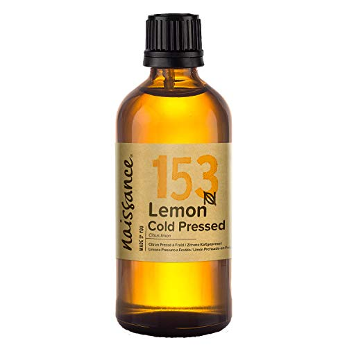 Naissance Cold Pressed Lemon Essential Oil for Diffusers 100ml - Pure,...
